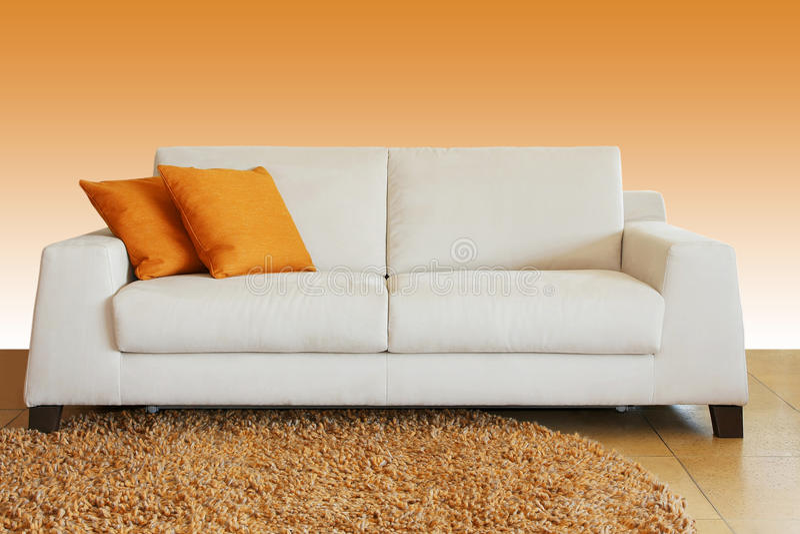 Sofa blanc images stock