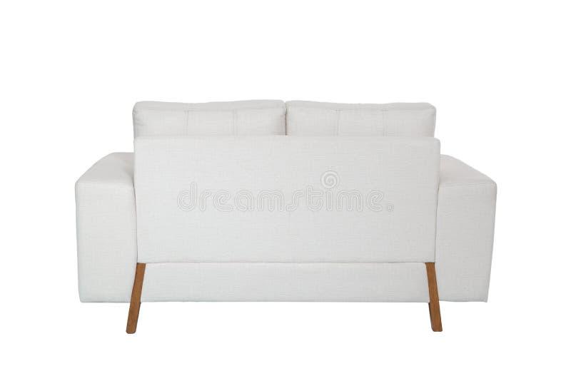 Sofa blanc confortable de deux sièges images stock