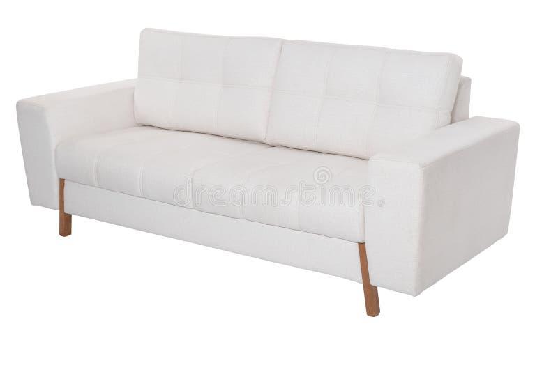 Sofa blanc confortable de trois sièges photographie stock