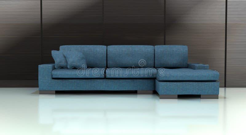 Sofa bleu images libres de droits