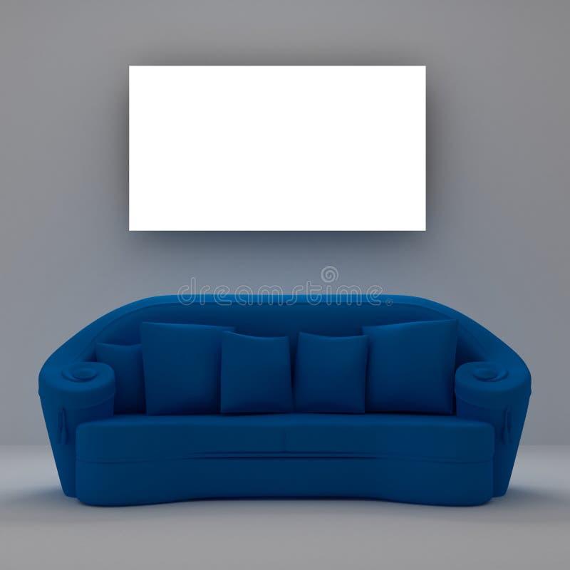 sofa bleu illustration libre de droits