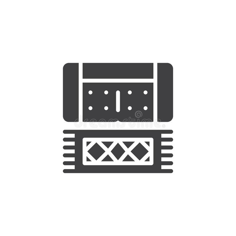 Sofa and carpet top view vector icon royalty free illustration