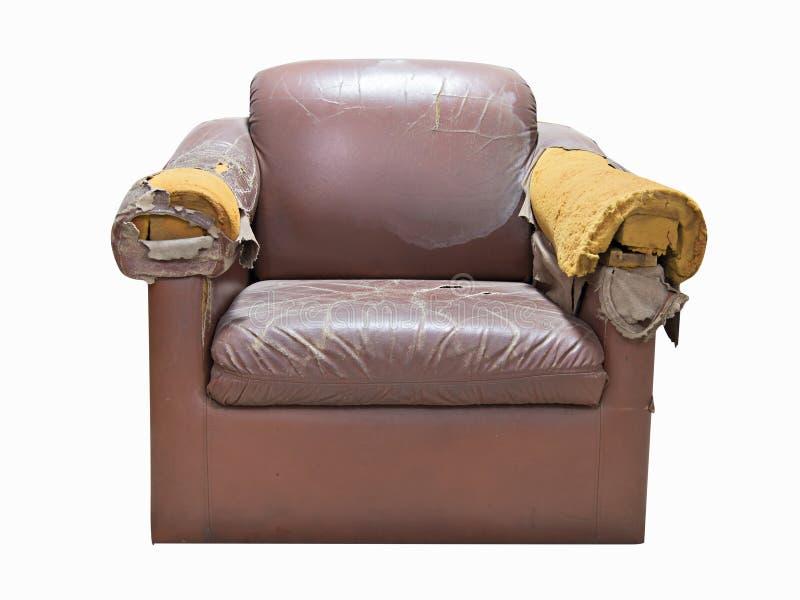 Sofa cassé photographie stock libre de droits