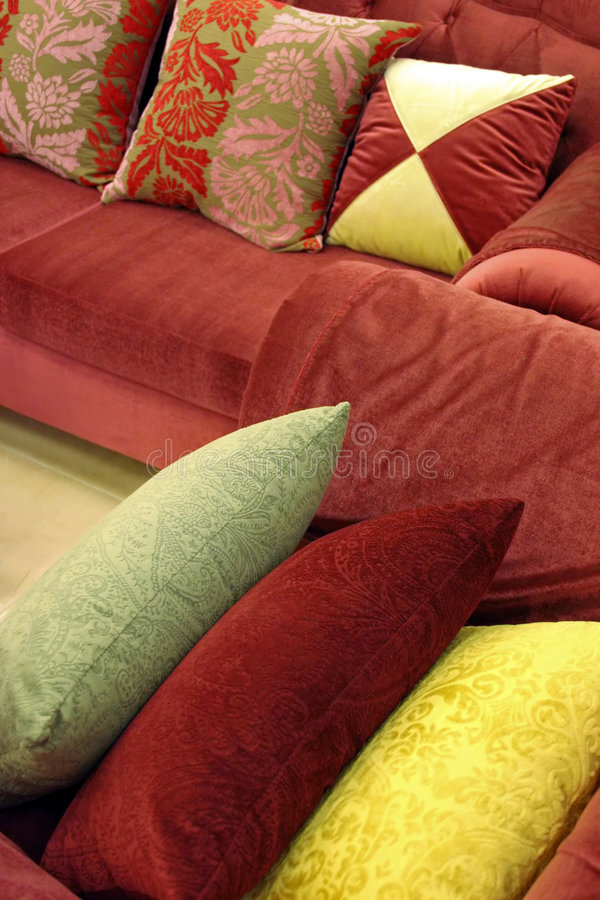 Sofa and chair stock images