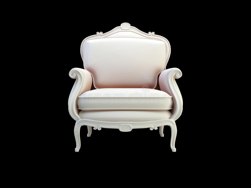 Sofa classique gris illustration libre de droits