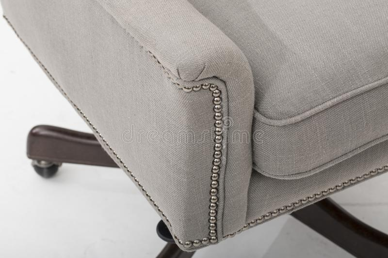 Sofa club chair sofa club, Light Beige Fabric Tufted Club Chair, Style Living Room Arm Chair,. Size Sleeper sofas that are Perfect for Relaxing with white royalty free stock image