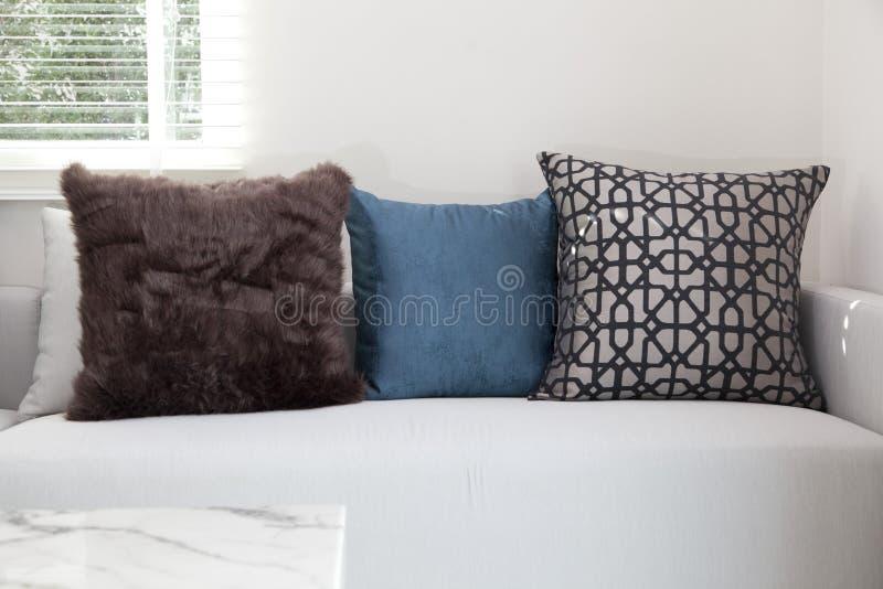 Sofa and colorful cushion. Comfortable sofa and colorful cushion royalty free stock photos