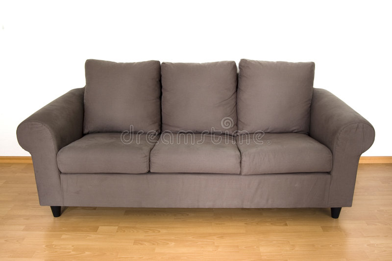 Sofa Confortable De Brown Photos libres de droits