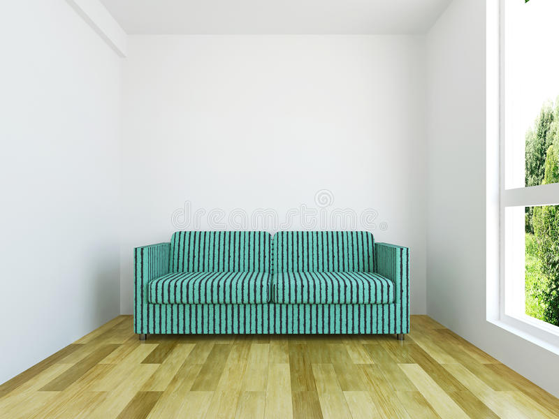 Download Sofa with cushions stock illustration. Illustration of lounge - 40413542