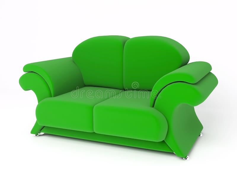 Sofa 3D lizenzfreie stockbilder
