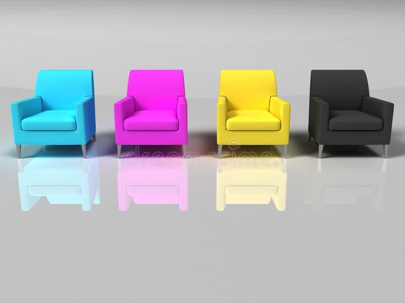 Sofa d'isolement illustration de vecteur