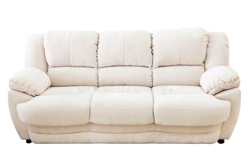 Sofa d'isolement sur le fond blanc photos libres de droits