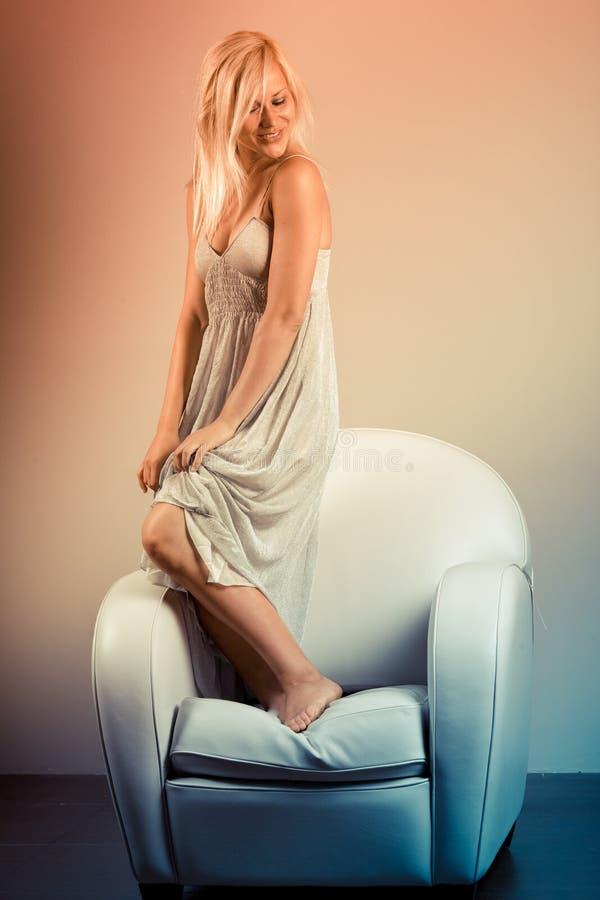 Download Sofa dancing stock photo. Image of figure, caucasian - 16753502