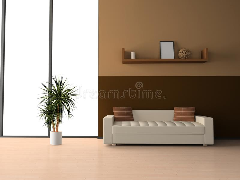 Sofa dans la chambre illustration stock