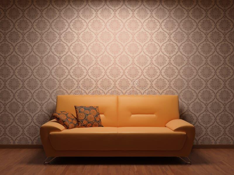 Sofa dans la chambre de reste illustration libre de droits