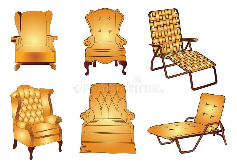 Sofa de vecteur illustration de vecteur