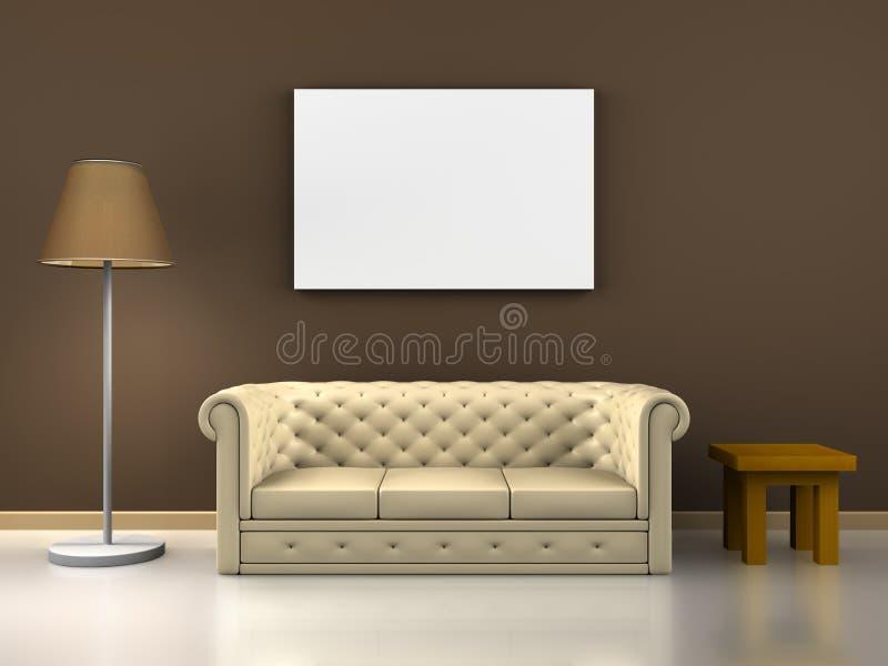 Download Sofa decoration stock illustration. Image of domestic - 17142250