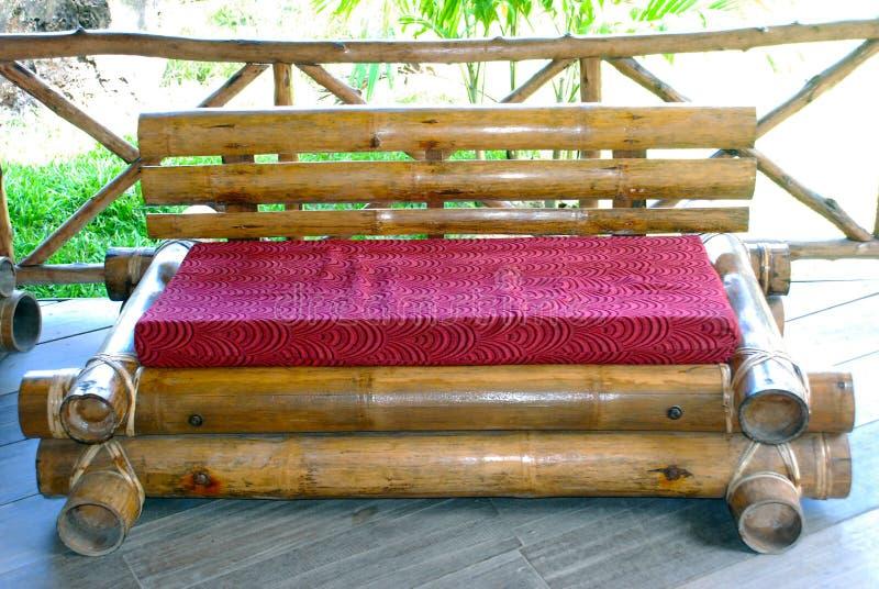 Sofa en bambou image stock