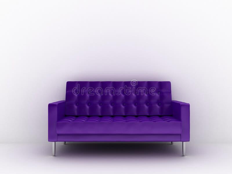 Sofa en cuir illustration libre de droits