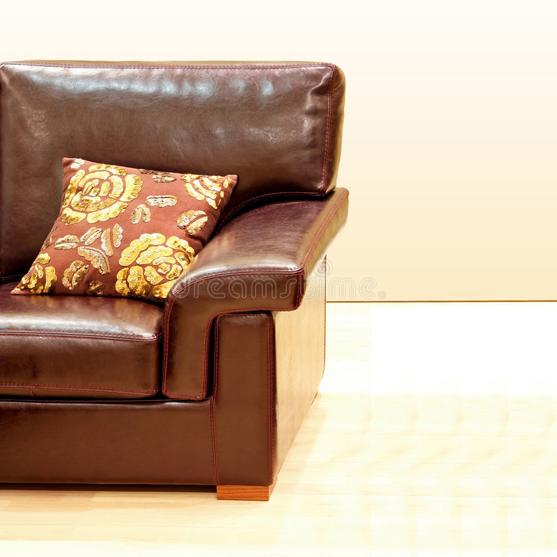Sofa en cuir photographie stock libre de droits