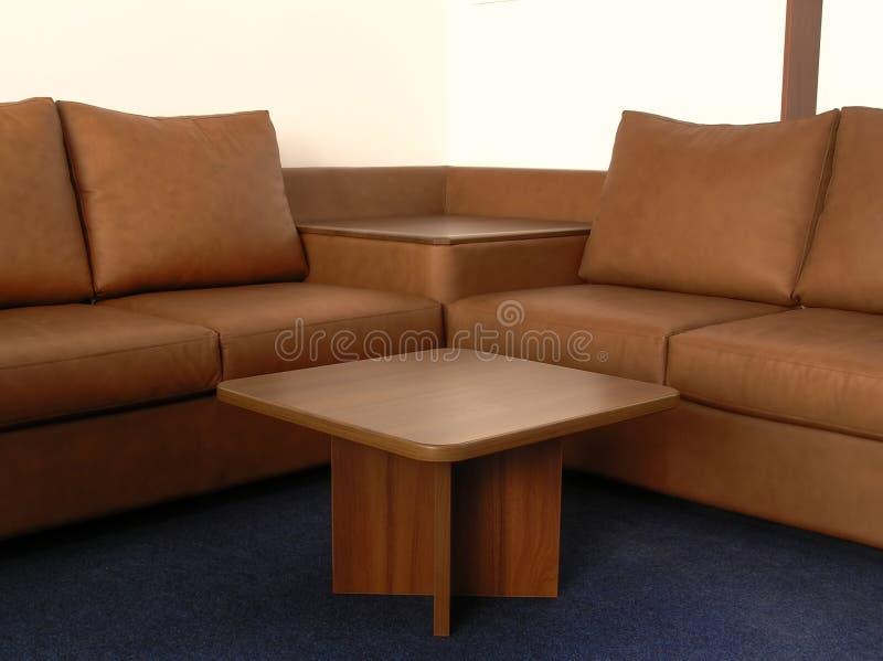 Sofa en cuir de bureau image stock
