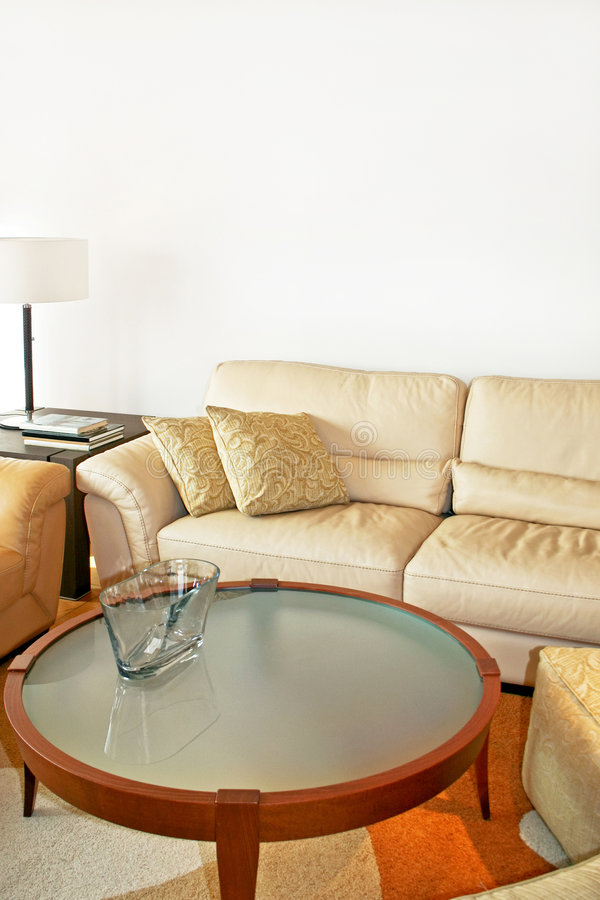 sofa en cuir de groupe image stock