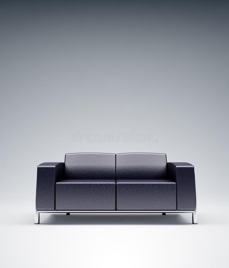 Sofa en cuir vide photo stock