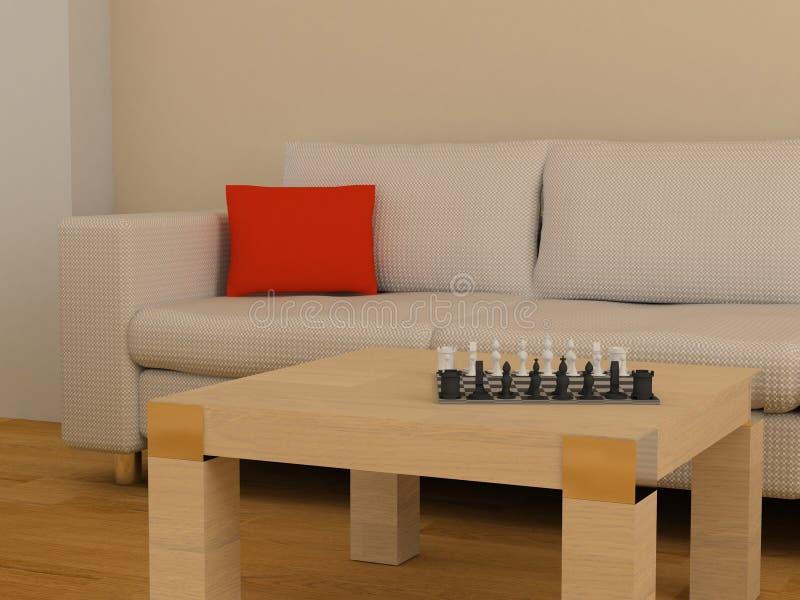 Sofa et table illustration stock