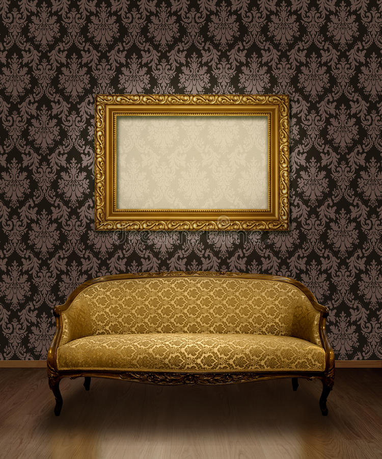 Sofa et trame classiques illustration stock
