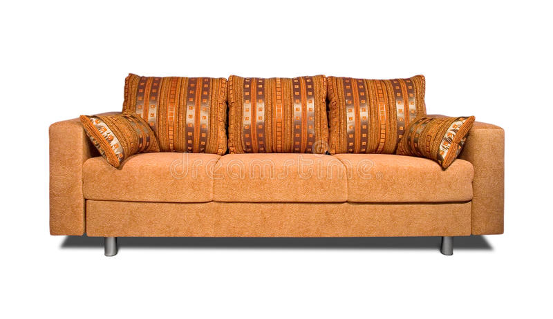 Sofa with fabric upholstery royalty free stock photo