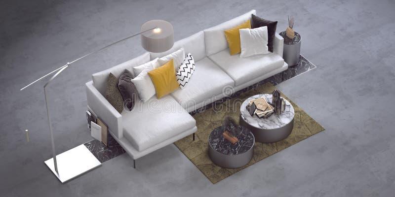 Sofa faisant le coin moderne illustration de vecteur