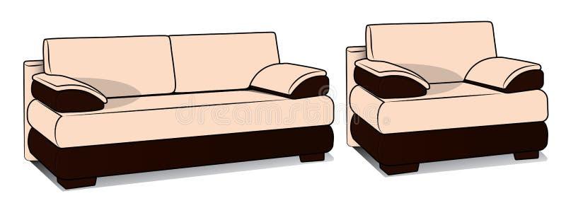Sofa Fiji illustration stock