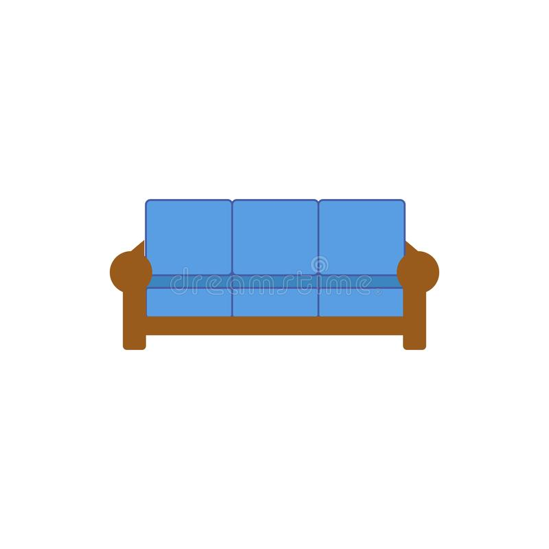 Sofa Flat Icon. Interior Or Room Design Template In Flat ...