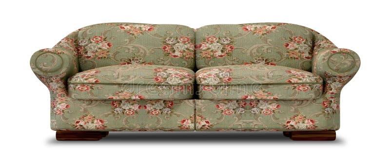 Sofa Front floreale anziano illustrazione di stock