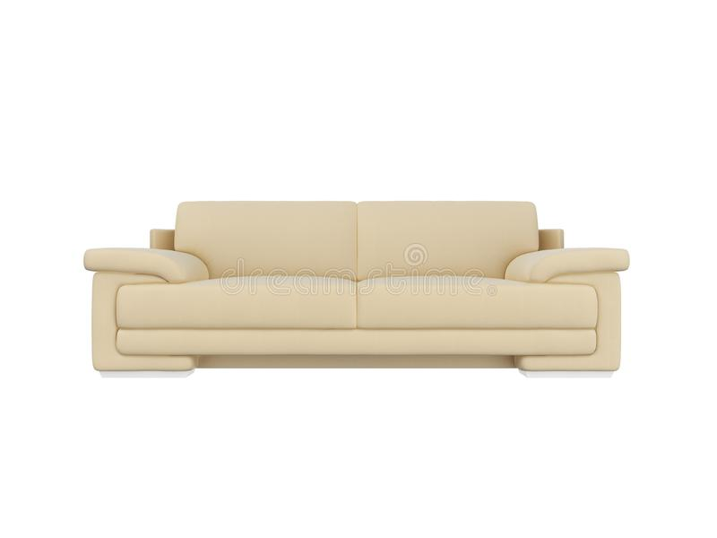 sofa front view royalty free stock images