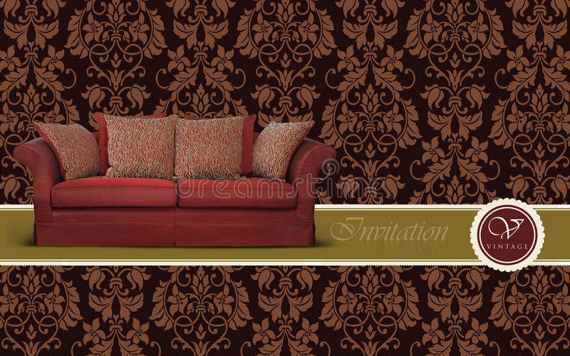 Sofa furniture vector illustration