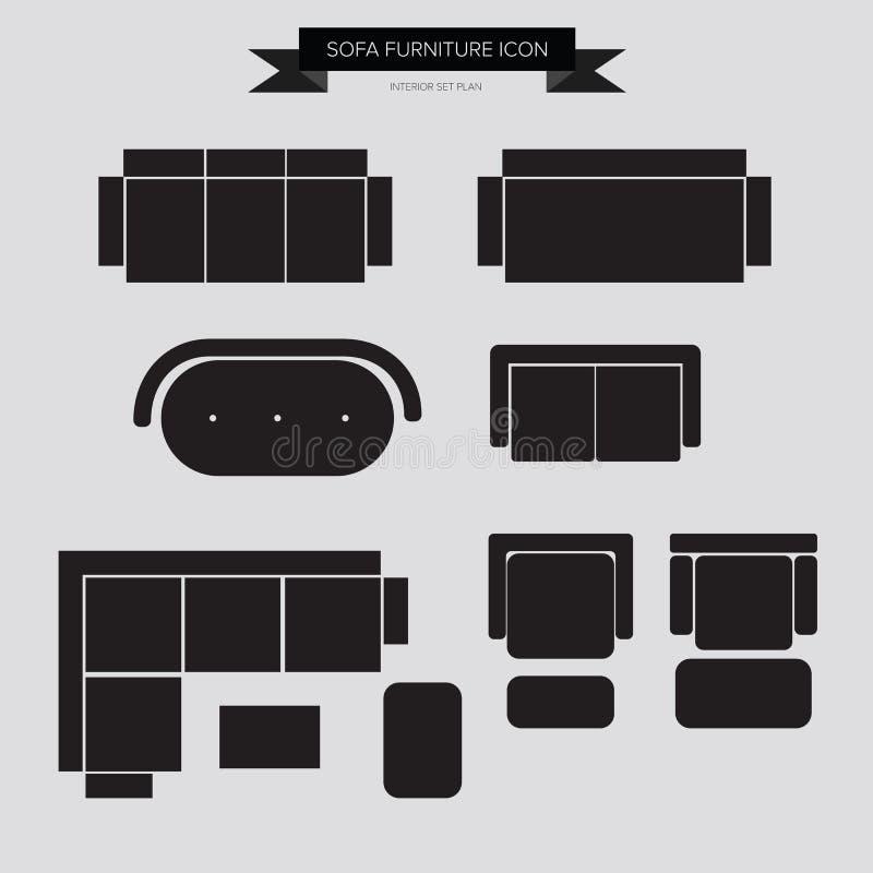 Sofa Furniture Icon illustration de vecteur