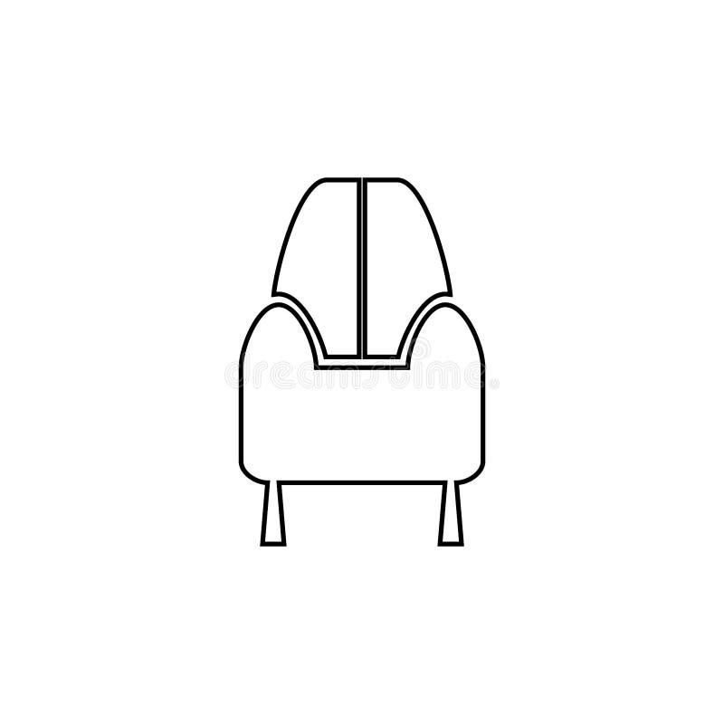 Sofa icon. Home furniture button royalty free illustration