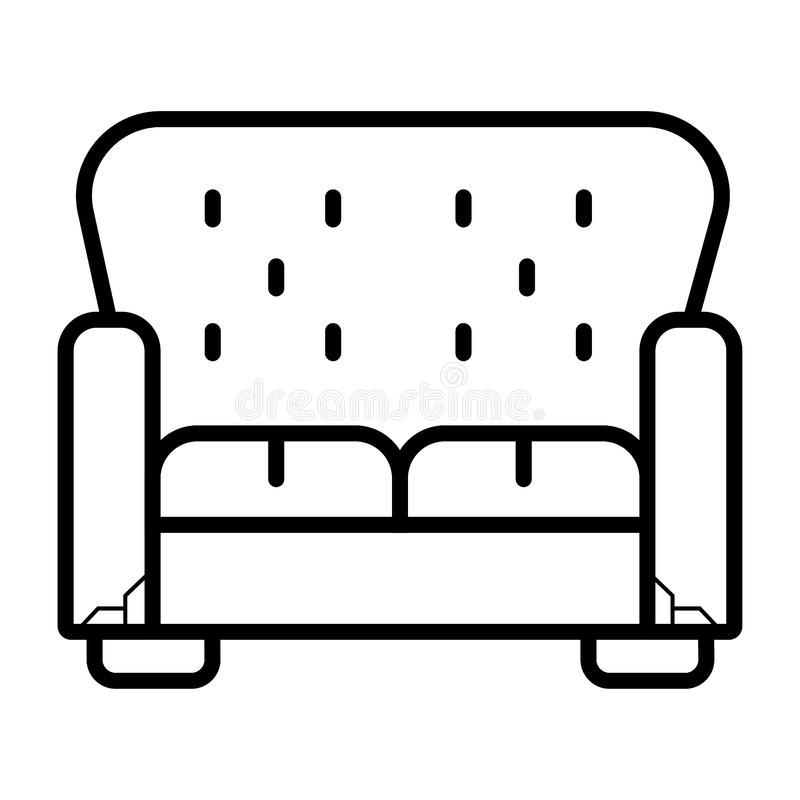 Sofa icon illustration isolated vector sign. Symbol stock illustration