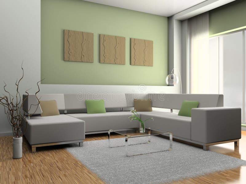Sofa im Raum lizenzfreie abbildung