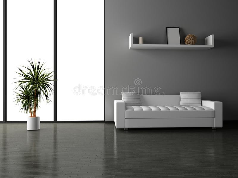 Sofa im Raum stockfotos