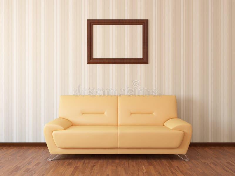 Sofa im Restraum vektor abbildung
