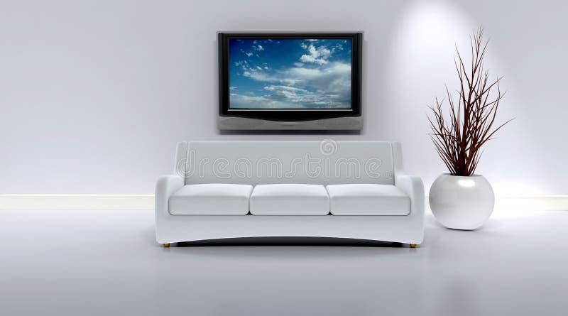 sofa intérieur contemporain illustration stock