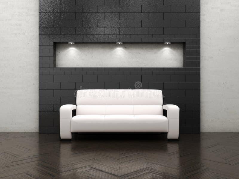 Sofa intérieur vide illustration stock