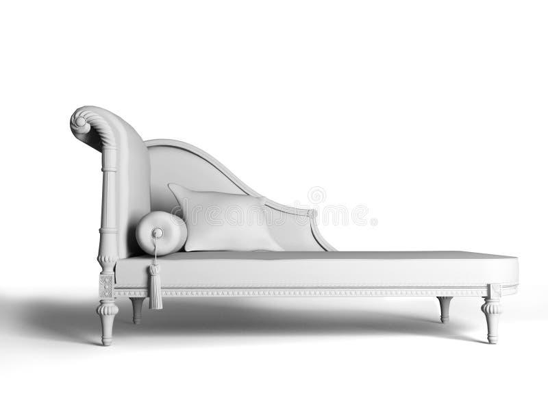 sofa klasyczny styl ilustracja wektor