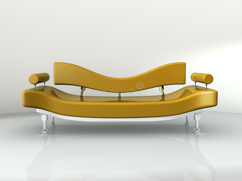 Sofa-Konzept-Auslegung lizenzfreie abbildung