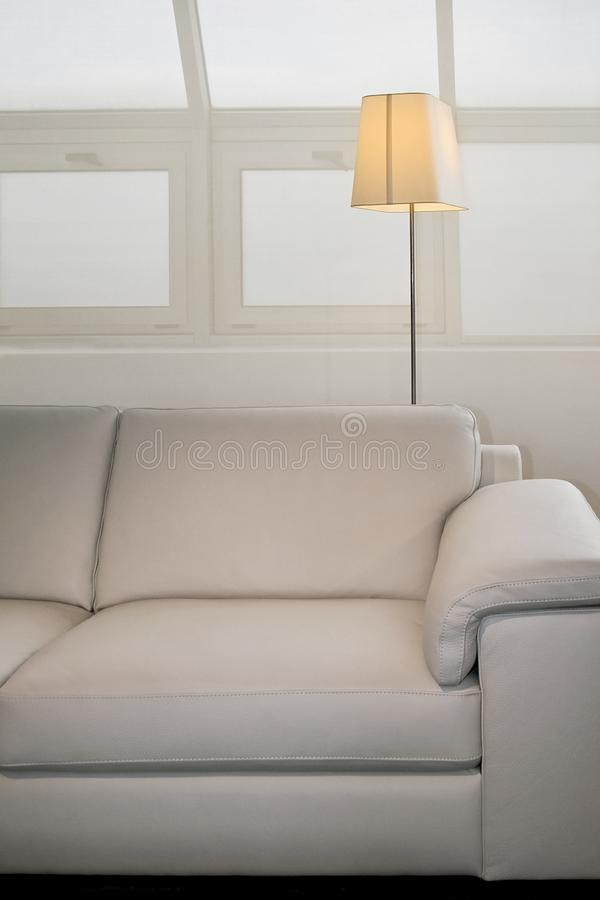 Sofa and lamp royalty free stock image