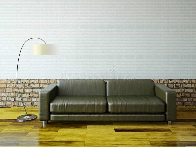 Download Sofa and  lamp stock illustration. Image of architecture - 34657561