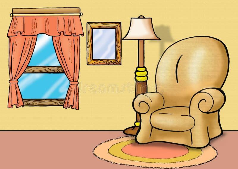 Sofa in living room vector illustration