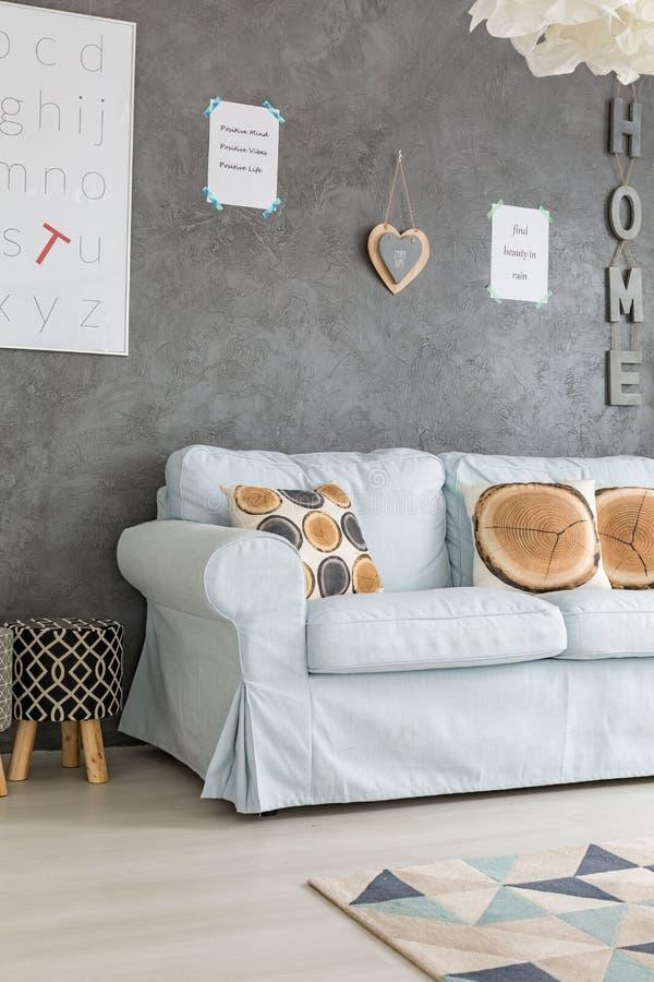 Sofa in living room stock image